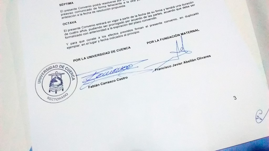 Convenio firmado Ecuador